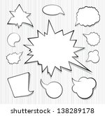 a collection of comic style...   Shutterstock .eps vector #138289178