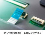 computer connector and cable on ...   Shutterstock . vector #1382899463