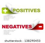 vector template for positives... | Shutterstock .eps vector #138290453