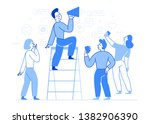 vector illustration in flat... | Shutterstock .eps vector #1382906390