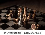close up shot chess on the... | Shutterstock . vector #1382907686