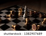 close up shot chess on the... | Shutterstock . vector #1382907689