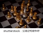 close up shot chess on the... | Shutterstock . vector #1382908949