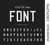 font and alphabet vector ... | Shutterstock .eps vector #1382912996