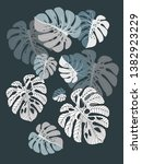 vector tropical pattern with... | Shutterstock .eps vector #1382923229