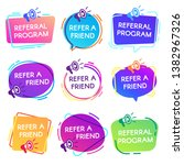 refer friend badges. referral... | Shutterstock . vector #1382967326
