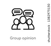 outline group opinion vector... | Shutterstock .eps vector #1382975150