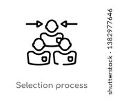 outline selection process... | Shutterstock .eps vector #1382977646