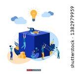 trendy flat illustration.... | Shutterstock .eps vector #1382979959