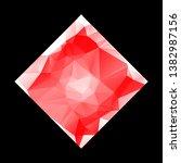 creative poligonal triangle... | Shutterstock .eps vector #1382987156