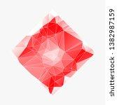 creative poligonal triangle... | Shutterstock .eps vector #1382987159