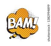 word 'bam ' in retro comic... | Shutterstock .eps vector #1382994899