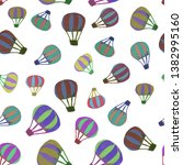 seamless pattern of different... | Shutterstock . vector #1382995160