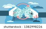 money exchange vector... | Shutterstock .eps vector #1382998226