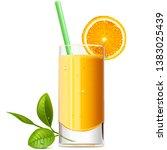 vector orange juice isolated on ...   Shutterstock .eps vector #1383025439