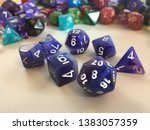 a set of dice used for many... | Shutterstock . vector #1383057359