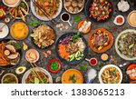 Asian Food Background With...