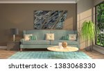 interior of the living room. 3d ...   Shutterstock . vector #1383068330