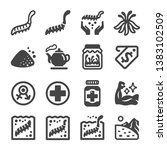 cordyceps icon set vector and... | Shutterstock .eps vector #1383102509