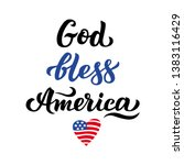god  bless america and the... | Shutterstock .eps vector #1383116429