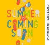 summer coming soon  creative... | Shutterstock .eps vector #138312260