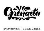 hand lettering grenada   name... | Shutterstock .eps vector #1383125066