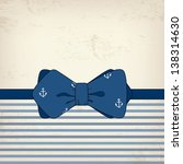 vintage card with bow tie ... | Shutterstock .eps vector #138314630