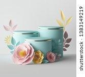 3d render  botanical... | Shutterstock . vector #1383149219