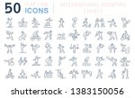 set of vector line icons of... | Shutterstock .eps vector #1383150056