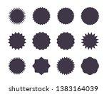 starburst sale sticker.... | Shutterstock .eps vector #1383164039