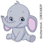 Stock vector baby elephant 138316829