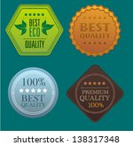vector badges. | Shutterstock .eps vector #138317348
