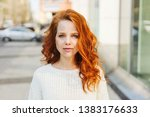 serious attractive young woman... | Shutterstock . vector #1383176633