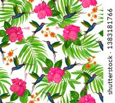 seamless pattern with... | Shutterstock . vector #1383181766