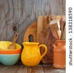 kitchen cooking utensils | Shutterstock . vector #138318590