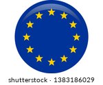 simple flag of european union. | Shutterstock .eps vector #1383186029