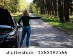 broken car looking for help | Shutterstock . vector #1383192566