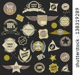 set of retro vintage label....   Shutterstock .eps vector #138319289