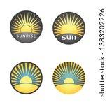 set of summer badges with sun | Shutterstock .eps vector #1383202226