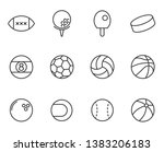 sport balls outline vector...