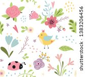 kids fabric pattern amazing... | Shutterstock .eps vector #1383206456