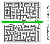 a square labyrinth. success... | Shutterstock .eps vector #1383212933