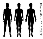vector silhouettes of man... | Shutterstock .eps vector #1383213923