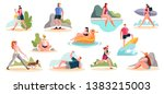crowd of people performing... | Shutterstock .eps vector #1383215003