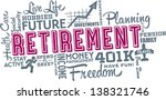 retirement planning word and... | Shutterstock .eps vector #138321746