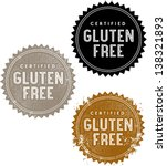 certified gluten free food stamp | Shutterstock .eps vector #138321893
