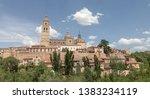 segovia spain roof panoramic sky | Shutterstock . vector #1383234119