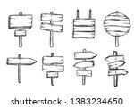 vector illustration of sketchy... | Shutterstock .eps vector #1383234650