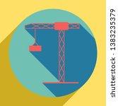 construction crane sign. sunset ... | Shutterstock .eps vector #1383235379