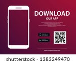 download page of the mobile app.... | Shutterstock .eps vector #1383249470